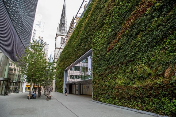 Land Securities Creates Green Walls In Central London